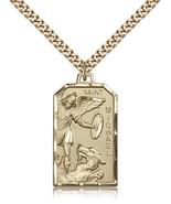 Men's Bliss Gold Filled Patron Saint Michael the Archangel 5720GF/24G 57... - $168.00
