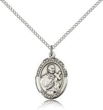 Women's Bliss Sterling Silver Patron Saint Martin De Porres Medal Pendant  - $49.50