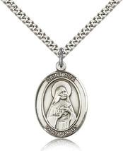 Men's Bliss Sterling Silver Patron Saint Rita of Cascia Medal Pendant 7094SS/24S - $52.00
