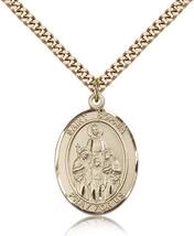 Men's Bliss Gold Filled Patron Saint Sophia Medal Pendant-24 Inch Necklace  - $132.50