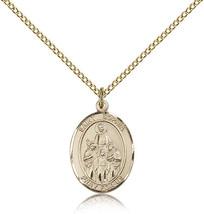 Women's Bliss Gold Filled Patron Saint Sophia Medal Pendant-18 Inch Neck... - $100.50