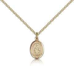 Women's Bliss Small Gold Filled Patron Saint Sophia Medal Pendant 9136GF... - $62.00