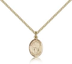 Women's Bliss Small Gold Filled Patron Saint Susanna Medal Pendant  - $62.00