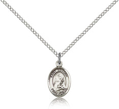Women's Bliss Small Sterling Silver Patron Saint Victoria Medal Pendant  - $42.50