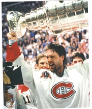 Patrick Roy W Stanley Cup Montreal Canadiens Vintage 8X10 Color Hockey P... - $4.99