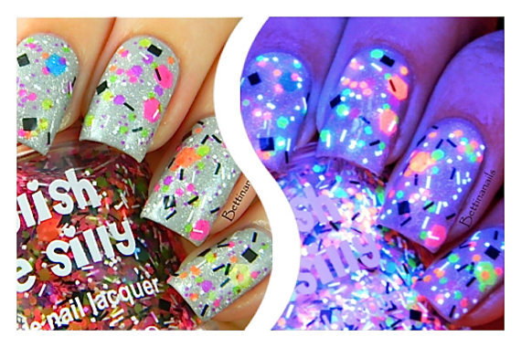 Polish Me Silly UV Blacklight Reactive Neon Glitter Nail Polish- TGIF Polish Me Silly