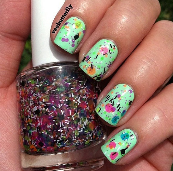 Polish Me Silly UV Blacklight Reactive Neon Glitter Nail Polish- TGIF