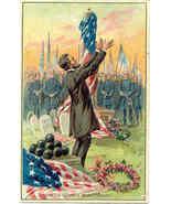 Lincoln at Gettysburg Vintage Patriotic Post Card  - $15.00