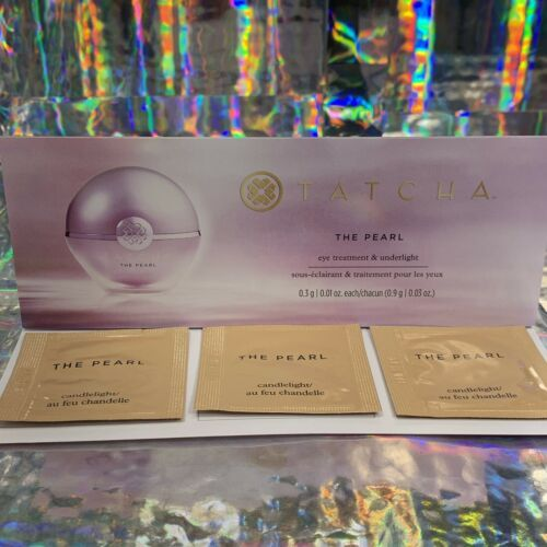 NWT Tatcha The Pearl Samples 3 Packets All In Same Shade *Candlelight .9g