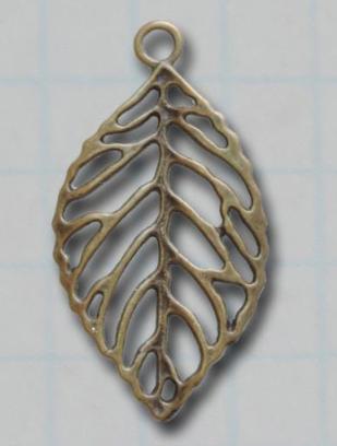 Big Leaf Vintage Metal Findings Charms cross stitch needlework
