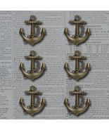 Bronze Anchors Away Vintage Metal Findings Charms cross stitch needlework - $3.00