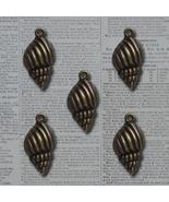 Bronze Sand Shore Seashell Vintage Metal Finding Charms cross stitch nee... - $3.00