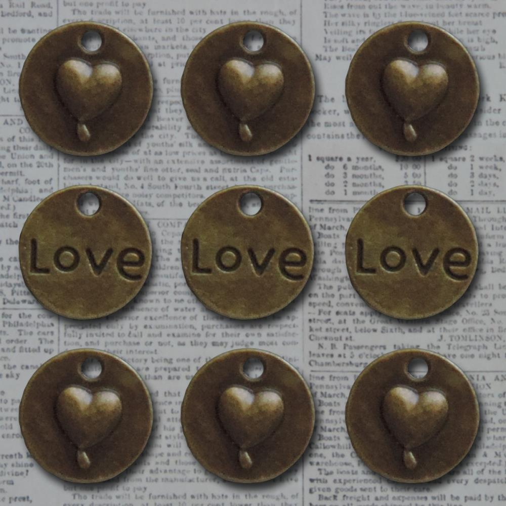 Bornze love heart circle