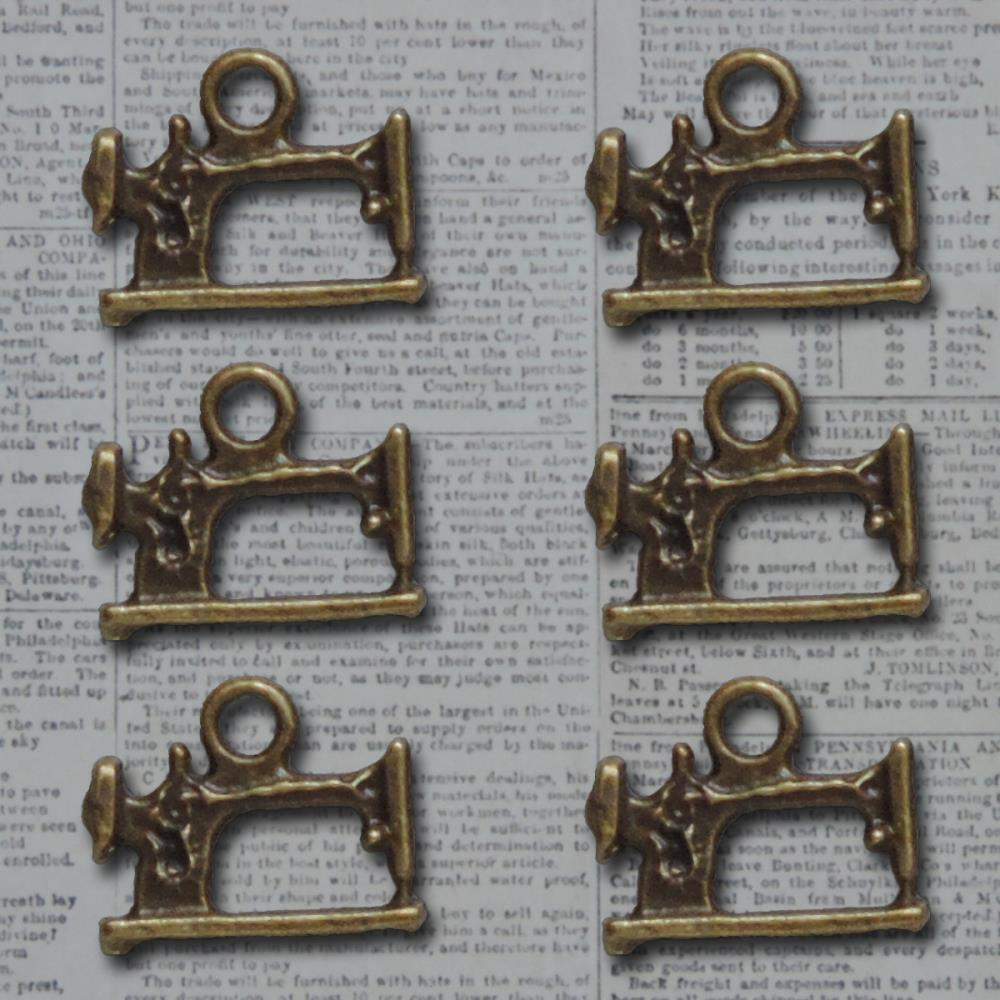 Bronze Sew Cute Machine Vintage Metal Findings Charms cross stitch needlework