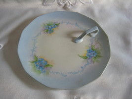 handpainted plate with lovely handle signed and dated - $22.00
