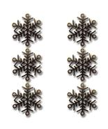 Bronze Let It Snow Snowflake Vintage Metal Finding Charm cross stitch ne... - $3.00