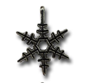 Silver Bells Snowflakes Vintage Metal Finding Charm cross stitch needlework