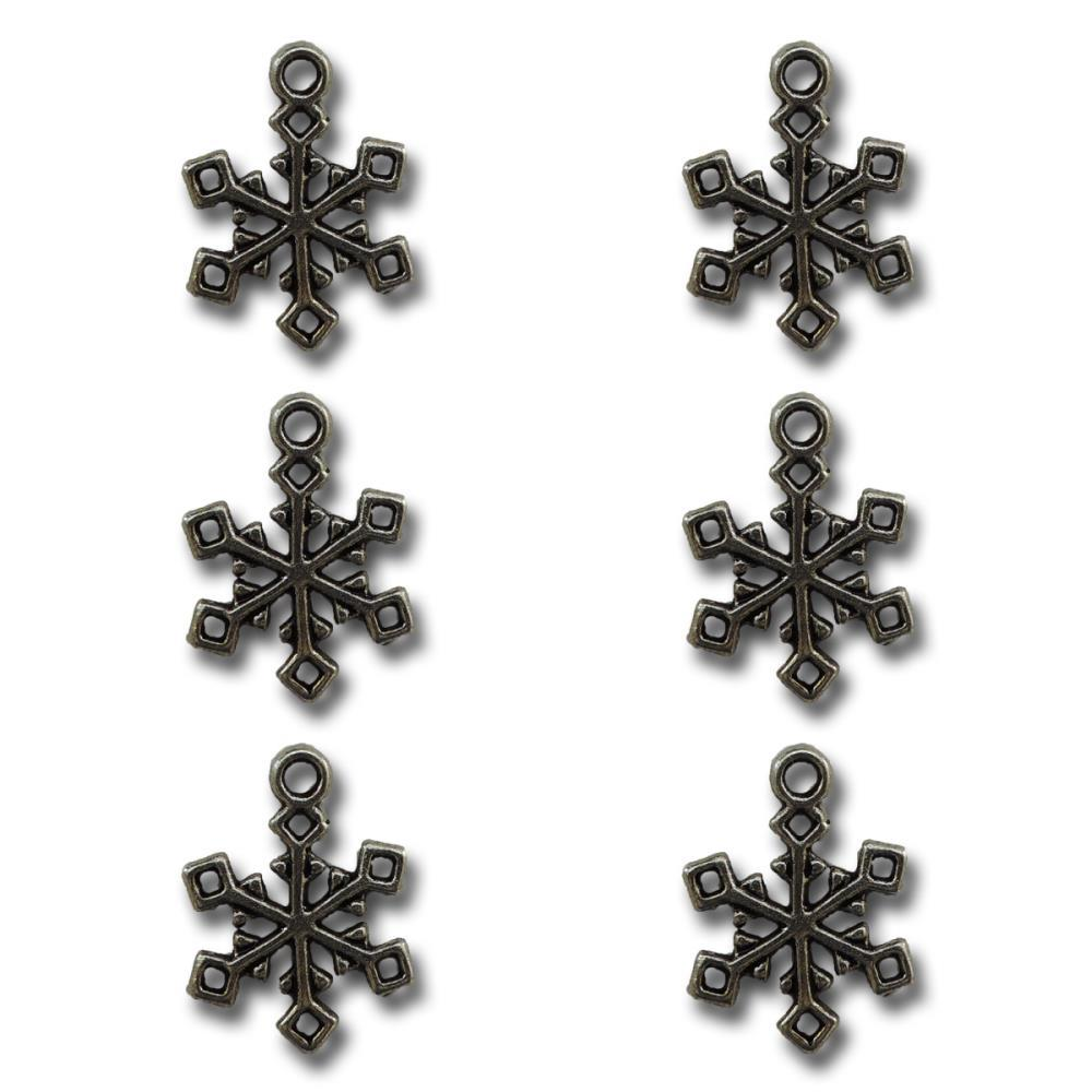 Frosty snow snowflakes