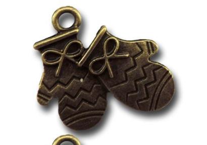 Bronze Mittens Vintage Metal Finding Charm cross stitch needlework