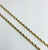 Mens 14K Gold Plated Stainless Steel 30 Inch Rope Chain Necklace - $11.89