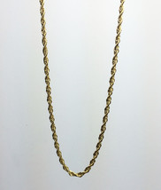 14K Gold Plated 30 Inch Rope Chain Necklace Stainless Steel - $11.89