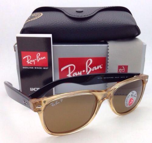 974ed143f4d3 12. 12. Previous. Ray-Ban Sunglasses RB 2132 NEW WAYFARER 945 57 Honey  Frames Brown Polarized Lens