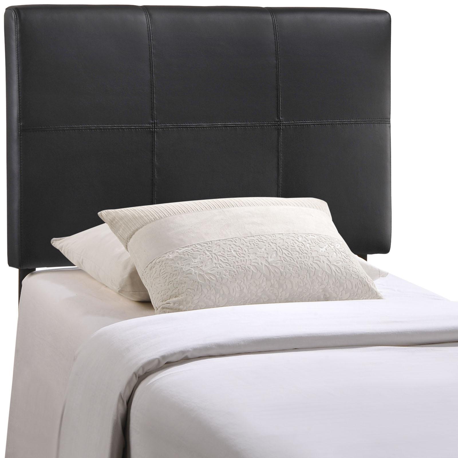 Oliver Black Faux Leather Vinyl Twin Headboard Furniture
