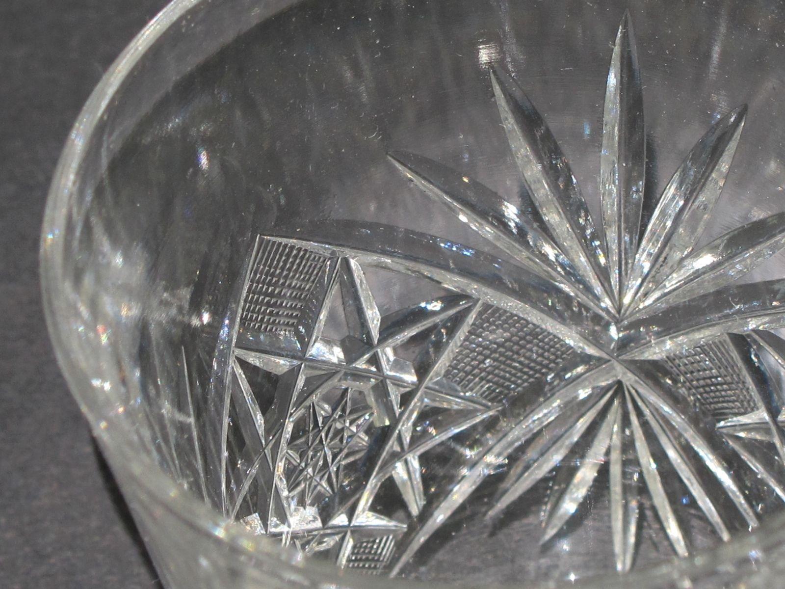American Brilliant Period Cut Glass water Pitcher plus 6 glasses Antique abp - $163.28