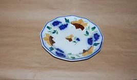 Antique English Pearlware Prattware Blue Grape Brown Leaf Pottery Plate - $245.00