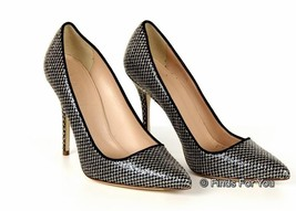 J Crew Roxie Mermaid Glitter Pumps Gold Navy Size 8.5 Style A9839 $278 New - $164.29