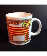 """Cool Cats Waechtersbach Mug 4"""" Modern Stylized Kitties Gold Detail Japan - $19.31"""