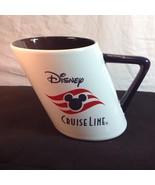 "Disney Cruise Line Smoke Stack Slanted Mug 4"" Mickey Mouse Ears - $29.21"