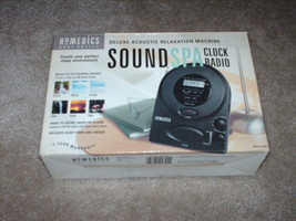 HoMedics Deluxe Acoustic Relaxation Machine SOUND SPA Clock Radio 1999  ... - $29.99