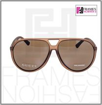 GUCCI GG1094S Aviator Brown Translucent POLARIZED Sunglasses Unisex 1094 1090  image 6