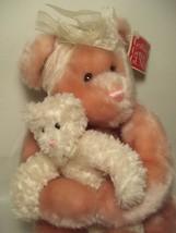GUND 16in. 2003 Plush Pink Duchess Bear and baby bear ~ RETIRED ~ Valent... - $26.72