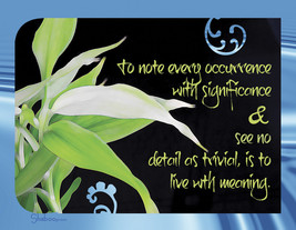 Blank Inspirational Card: Detail With Meaning, Zen - $5.00
