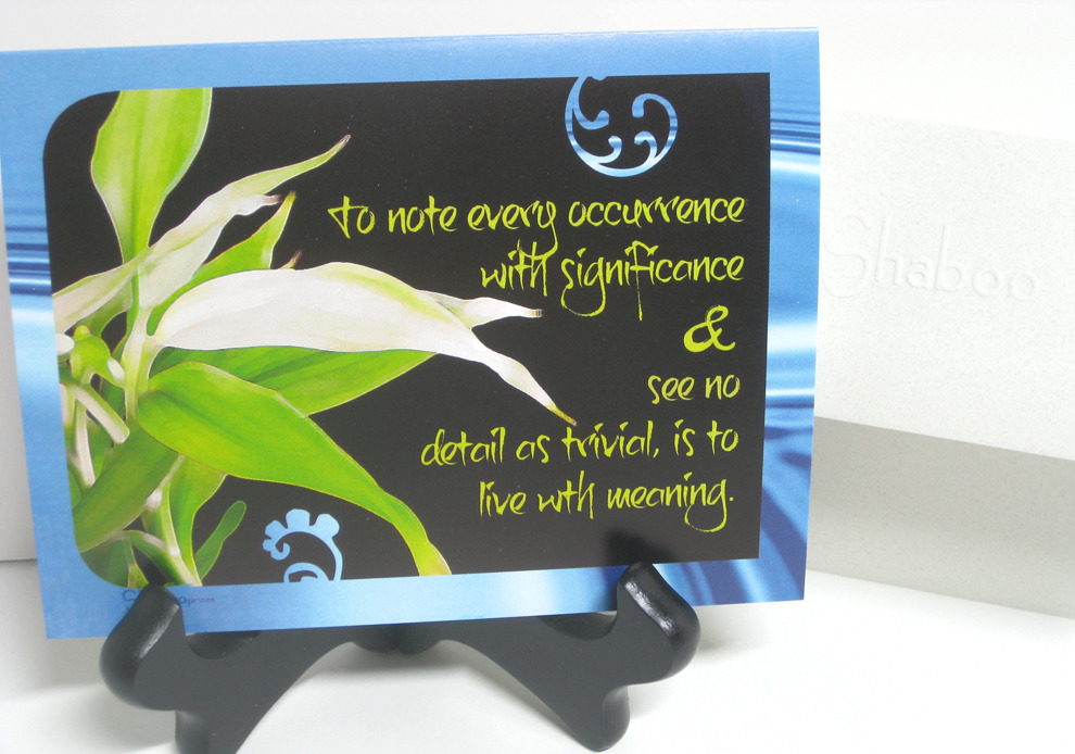 Blank Inspirational Card: Detail With Meaning, Zen