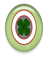 Four Leaf Clover144M Brad Green Glass-Digital D... - $3.00
