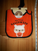Carter Baby Clothes OSFM First Halloween Baby Feeder Bib New Holiday Accessory - $3.16