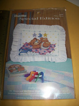 Bucilla Thread Craft Kit Mr Moon Me Pillow Sham Baby Counted Cross Stitc... - $9.49