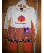 Fashion Holiday Baby Clothes 18M Cutest Pumpkin Skirt Set Girl Halloween... - $14.24