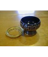 Black Ornate Brass resin incense burner free shipping + Free Resin Sample - $11.95