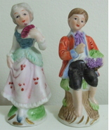 Figurines Girl and Boy Decorative Porcelain Figures - $8.95