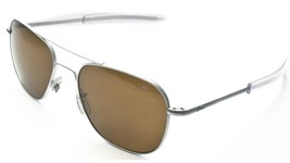 AO Eyewear Original Pilot 57mm Matte Chrome Bayonet Temple Brown Polarized Lens - $130.90