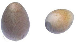 """30 PIECES Wood Eggs for Crafts SIZE  1-7/16"""" x 2-1/4"""" - $25.95"""