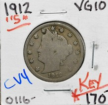 1912S Liberty Nickel 5¢ Actual Coin Pictured Lot# CV4