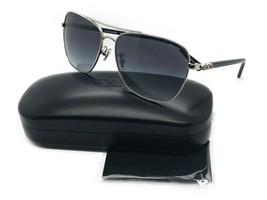 New Coach HC7073B 901511 Silver Black Womens Pilot Sunglasses 59mm 59-14... - $81.79