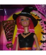 New Halloween Barbie doll in box 2014 with pink hair and witch costume - $25.99