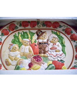 CHERRISHED TEDDIES HARVEST SERVING PLATTER #277789 - $45.00