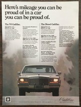 Vintage 1981 Cadillac PRINT AD V6 & Diesel Mileage You Can Be Proud Of - $11.16